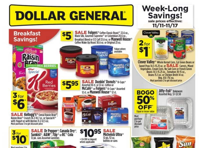 Dollar General $10 Breakdown for Saturday 11/17/18! Only 2 Paper Coupons Needed!