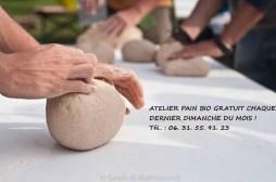 Ateliers pain bio gratuit tous les derniers dimanches du mois au Parc des Lilas de Vitry sur Seine (94)