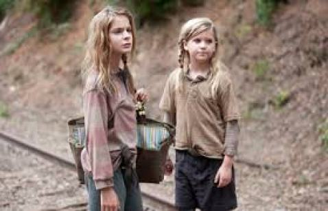 Image result for lizzie and mika twd