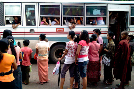 Crowded World - Yangon Bus