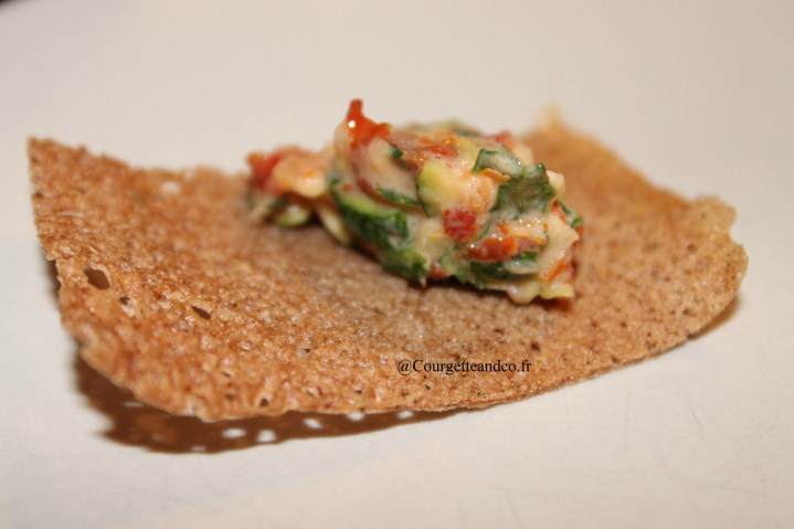 Crackers au sarrasin et tartare de légumes