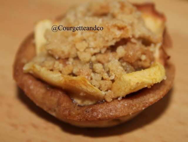 Tartelettes de pommes façon crumble