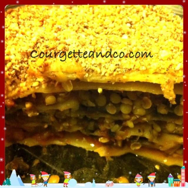 Lasagnes végétales aux lentilles corail