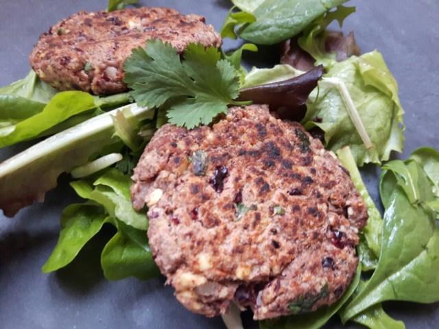 Steaks de haricots rouges protéinés