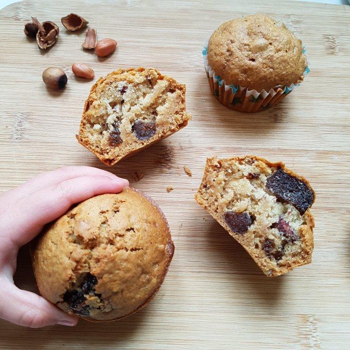 Muffins noisettes/abricots secs