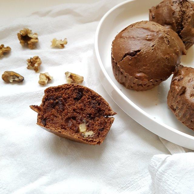 Muffins au chocolat et aux noix