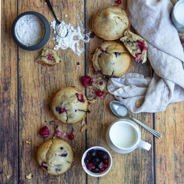 Muffins vegan aux fruits rouges