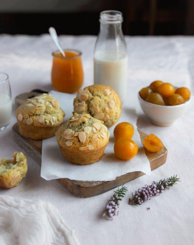 Muffins maxi moelleux aux mirabelles