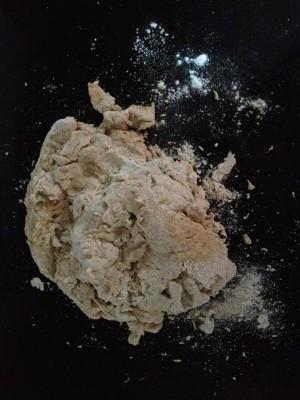 rough looking dough