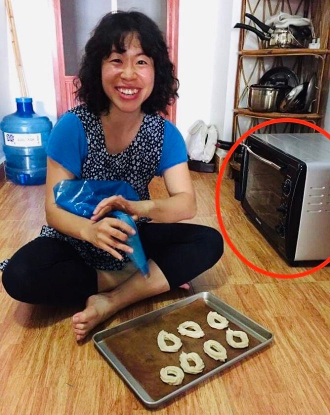 My toaster oven that lived on the floor