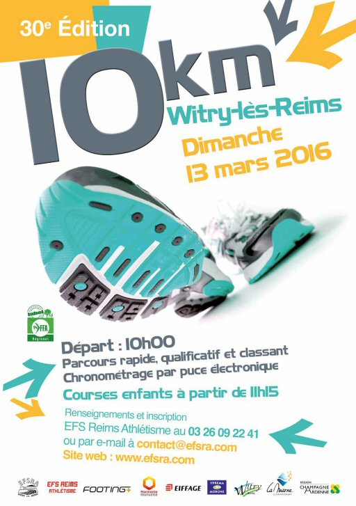 10KM de WITRY LES REIMS - 2016