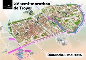Sem-marathon de TROYES - 2016