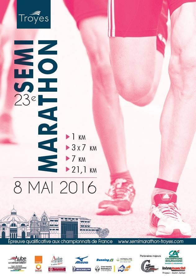Semi-marathon de TROYES - 2016