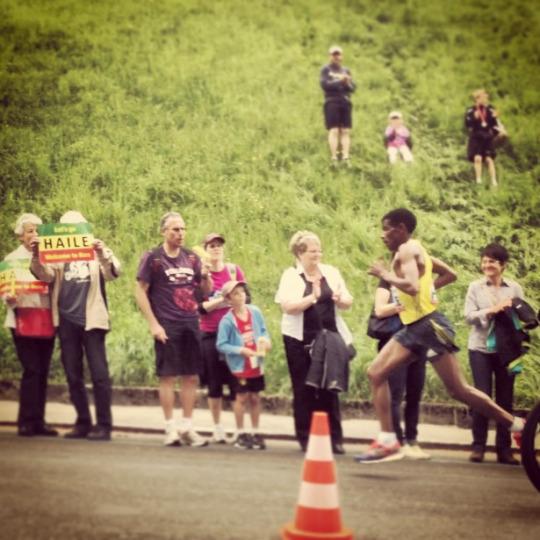 Haile Gebrselassie dans la dernière montée du Grand-Prix de Berne.