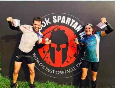 Mymy et Jacky, champion du monde de Spartan Race