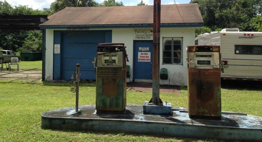 Station service abandonnée - Loop Road -Everglades - Floride