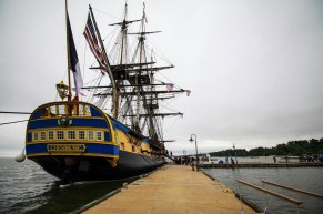 L'Hermione à quai à Yorktown. © Francis Latreille / Association Hermione Lafayette