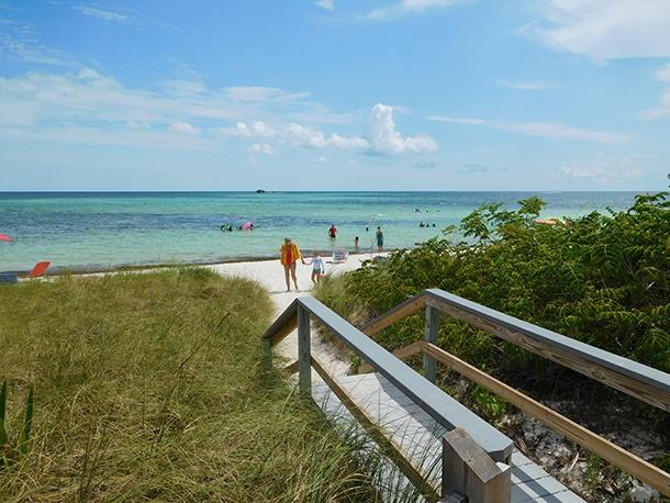 Plage à Bahia Honda dans les îles Keys de Floride