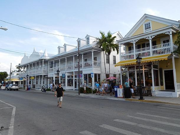 Maison en bois sur Duval Street à Key West - Floride