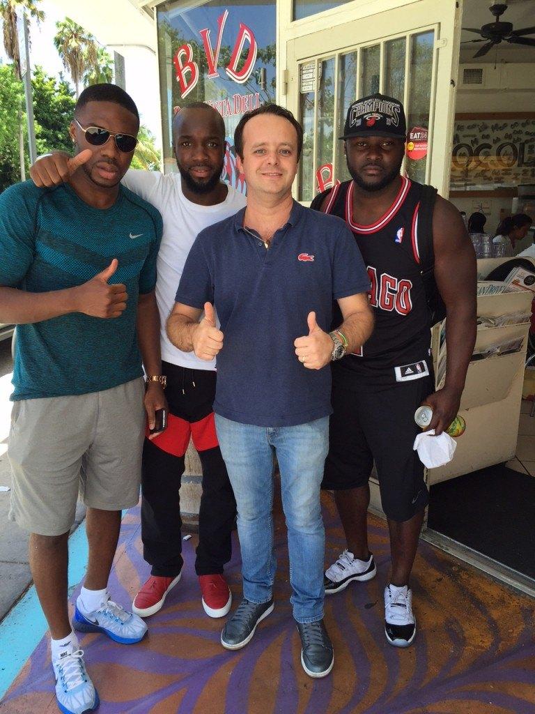 Lassana Diarra avec Corentin Finot du Buena Vista Bistro de Miami