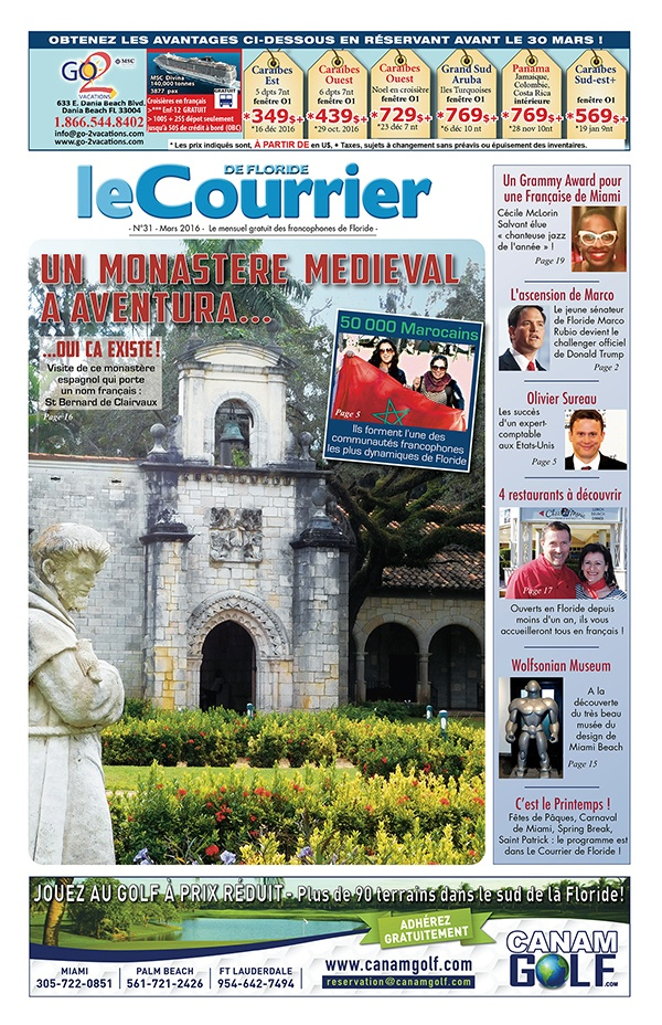 Couverture du Courrier de Floride - Mars 2016