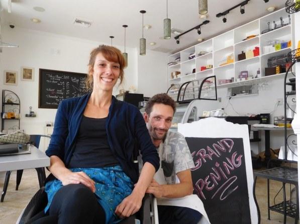 Emilie et Julien, café La Bonne Adresse à Hollywood-Florida