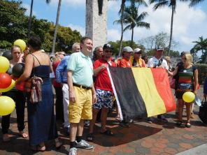 Rassemblement à Miami en soutient aux victimes des attentats de Bruxelles