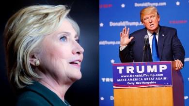 Photo of Hillary Clinton à Miami aujourd'hui, et Donald Trump demain