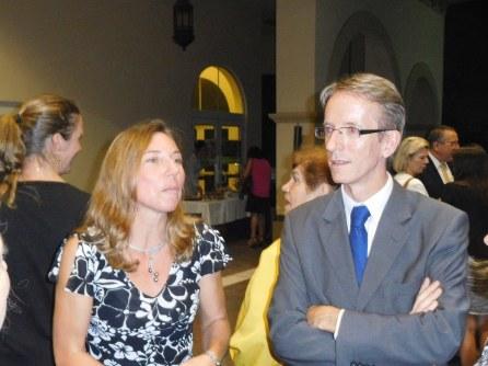 Laurence Ponse et le consul Philippe Létrilliart - 30 ans du Consulat de France à Miami