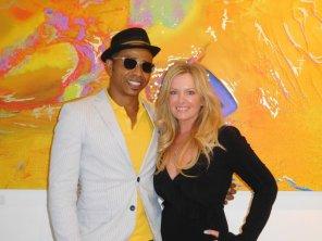Patrick Glémaud, patron de la Macaya Gallery, avec l'artiste Emma Dunlavey