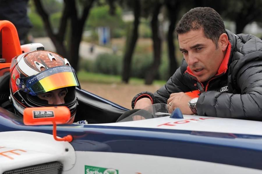 Michael Benyahia avec son entraîneur