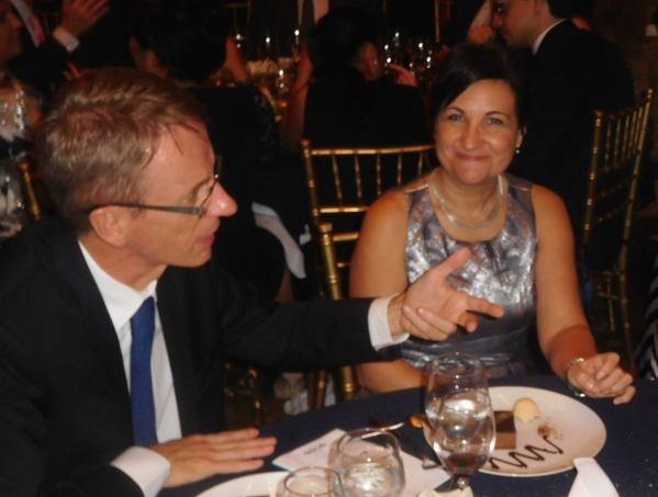 Gala Facc 2016 à Miami : M. et Mme Philippe Létrilliart (consul général de France)