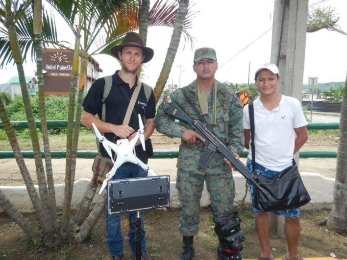 Dorian Roque en Equateur après le tremblement de terre