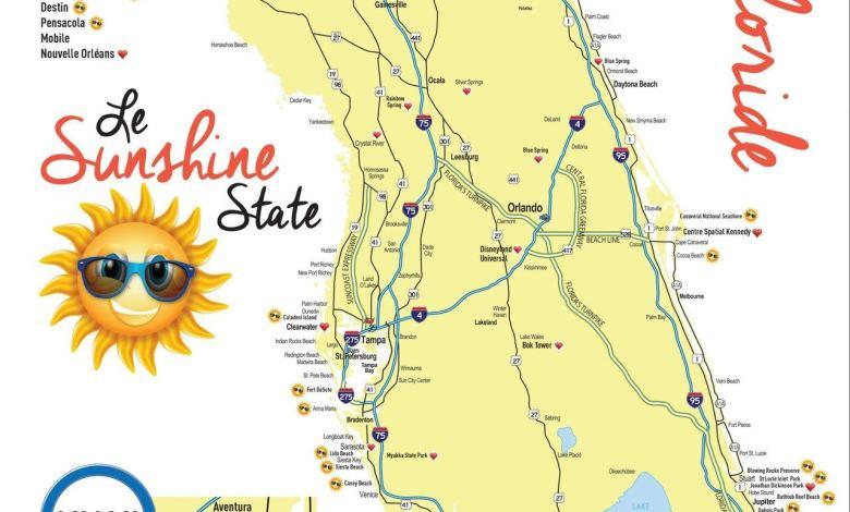 Carte De La Floride Et De Miami Le Courrier De Floride