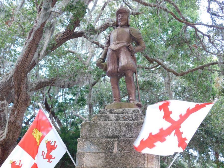 Statue de Juan Ponce de Leon sur le site de la Fontaine de Jouvence à St Augustine.