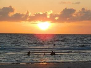 Coucher de soleil sur Honeymoon Island, Floride