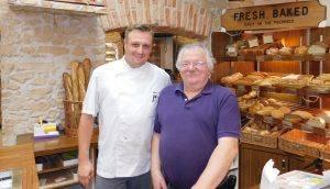 Bernard Casse (à droite) avec le chef Matthieu Cartron, à Croissan'Time Fort Lauderdale