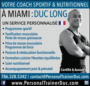 Duc Long Coach Sportif français à Miami