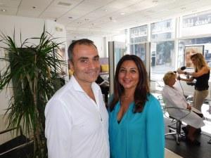 Gad et Dorothée Boucheninou à leur French Hair Studio de Miami-Brickell.