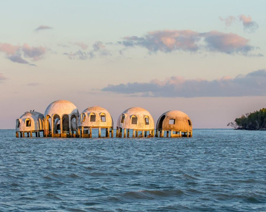 "La ""Dome House"" de l'île de Cape Romano sur les 10 000 Islands des Everglades"