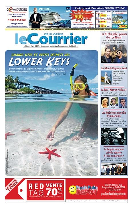 Couverture du Courrier de Floride d'Avril 2017
