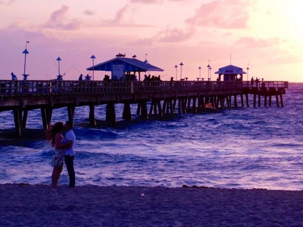 Lever de soleil à Lauderdale-by-the-Sea