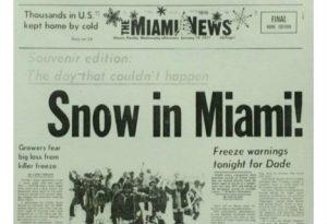 La dernière fois qu'il a neigé c'était en 1977 !!!