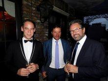Le député Frédéric Lefebvre (à droite) en compagnie à gauche de Patrick Rivet (Thema America) et Antoine Vernholes (Club V.I.E), au gala FACC Miami 2017.