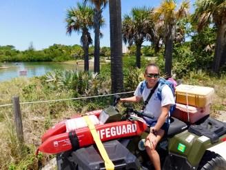 Sauveteuse sur Peanut Island (à West Palm Beach en Floride)