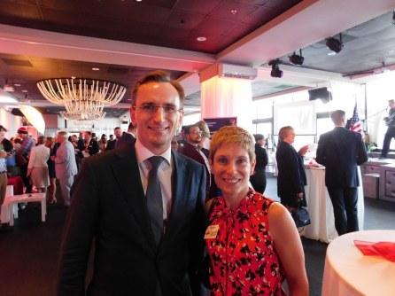 Le consul général de France, Clément Leclerc, et Elaine Brouca, consule du Canada à Miami en charge des affaires économiques.
