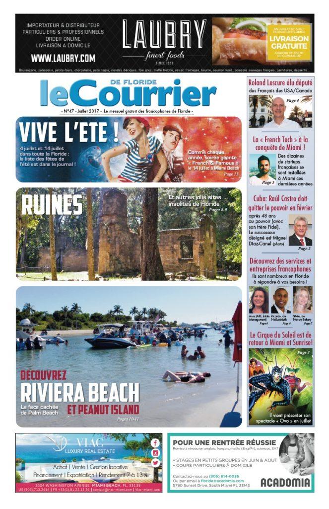 Couverture du Courrier de Floride de Juillet 2017