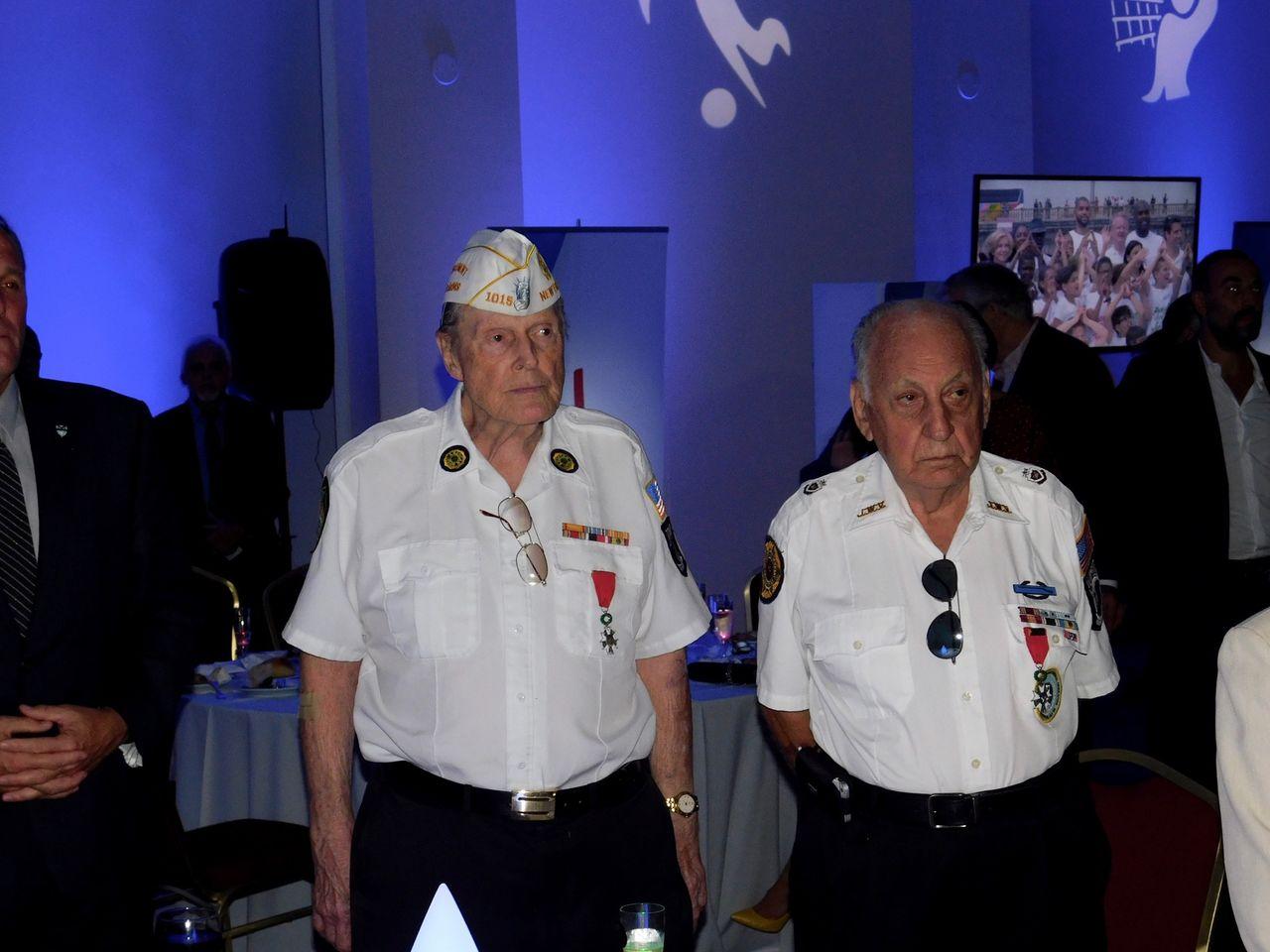 Des anciens combattants américains étaient présents au Bastille Day du consul général de France à Miami, Clément Leclerc.