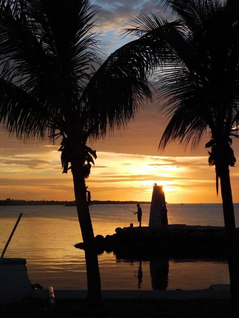 Coucher de soleil au nord de l'île de Marathon (Keys de Floride)