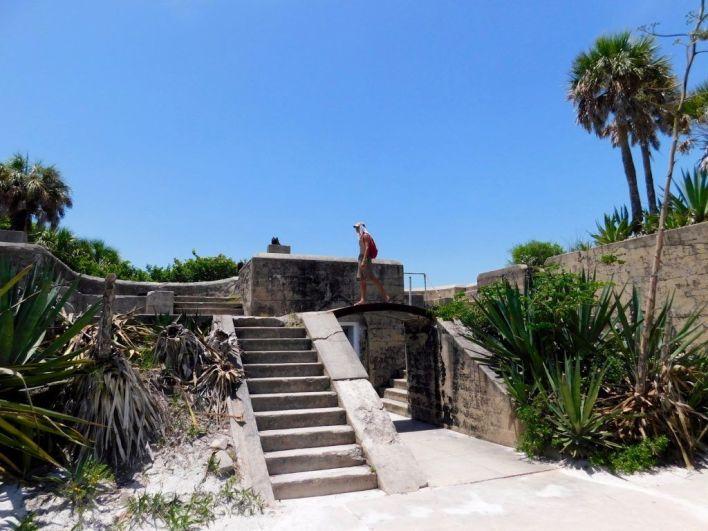 Ruines du fort nord-ouest sur l'île de Egmont Key en Floride